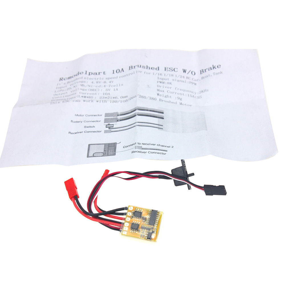 F05427 rc 10a brushed esc two way motor speed controller for Two speed motor control