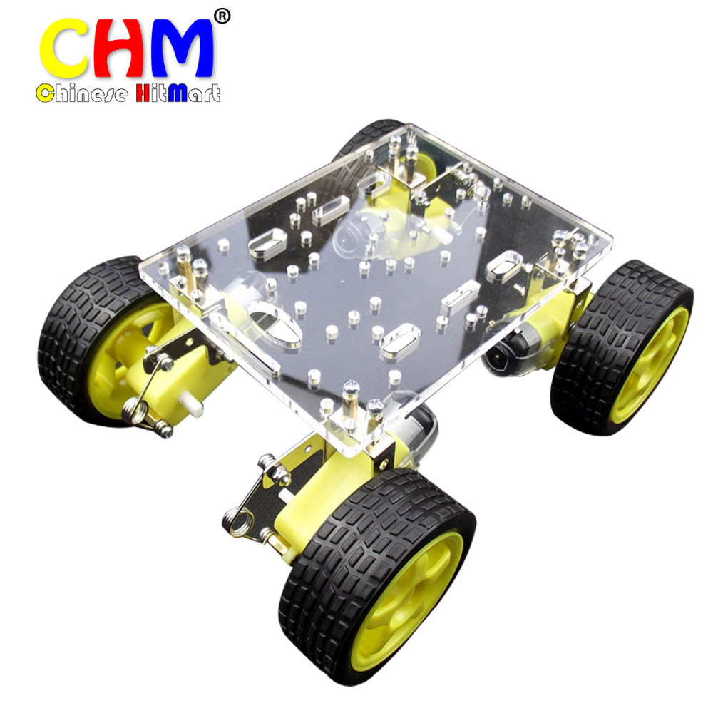 Hot sale 1pcs latest motor robot car acrylic stand double for Robot motors and parts