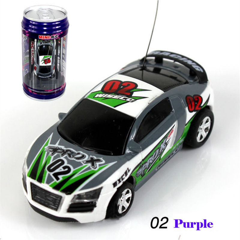 xj coke can mini speed rc radio remote control micro racing car toy gift 02 purple rc cars. Black Bedroom Furniture Sets. Home Design Ideas